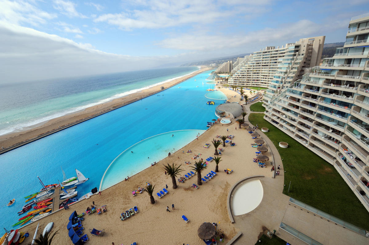 World's largest, make that the second largest, swimming pool in the World!