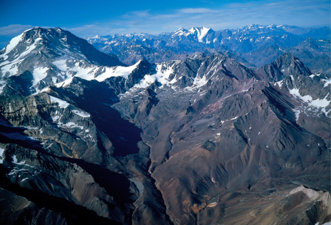 The Andes Mountains of Chile